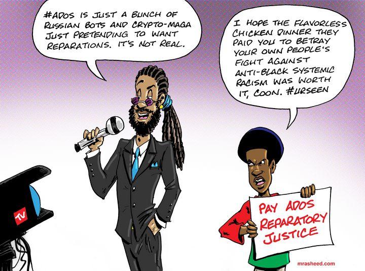 Allegiance to Evil - M. Rasheed Cartoons