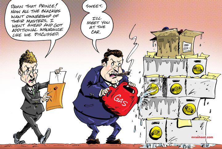War Against Fair Competition - M. Rasheed Cartoons