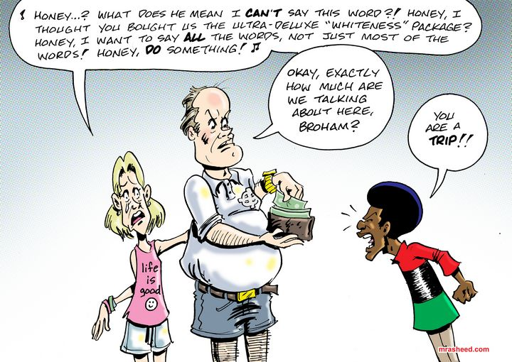 Tantrum of the White Aristocracy - M. Rasheed Cartoons