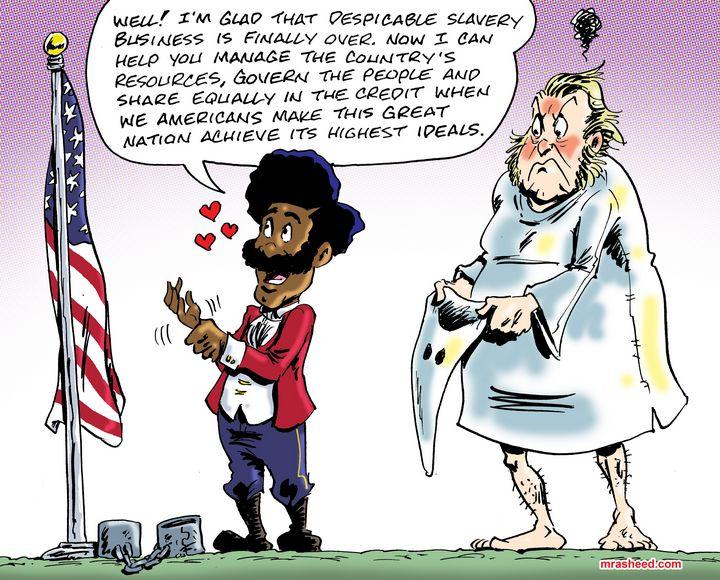 Patriotism Versus Racism - M. Rasheed Cartoons