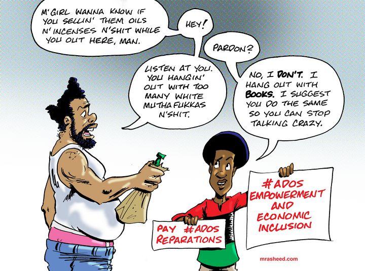 A White Monopoly On That, Too? - M. Rasheed Cartoons