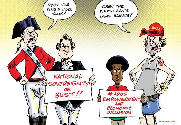 Freedom is Worth the Fight - M. Rasheed Cartoons