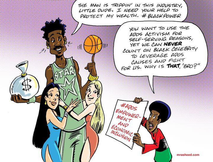 MIA: Politics of Black Celebrity - M. Rasheed Cartoons