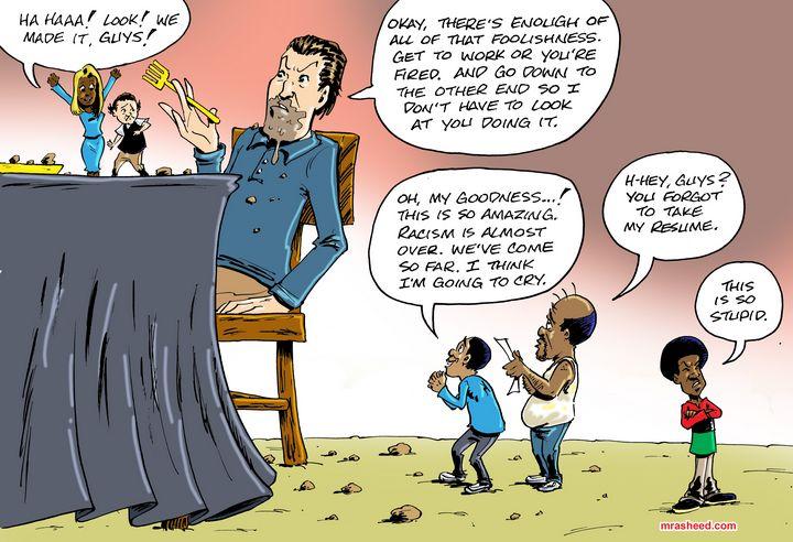Saving Racism - M. Rasheed Cartoons