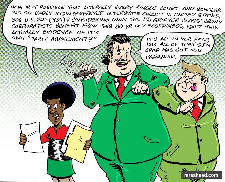 Evil's Legal Arm of Protection - M. Rasheed Cartoons