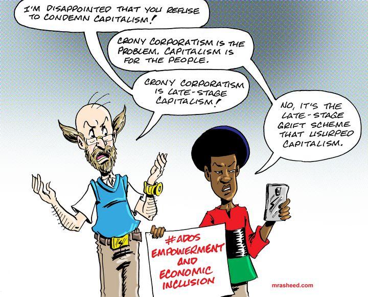 The White Liberal Saboteur - M. Rasheed Cartoons