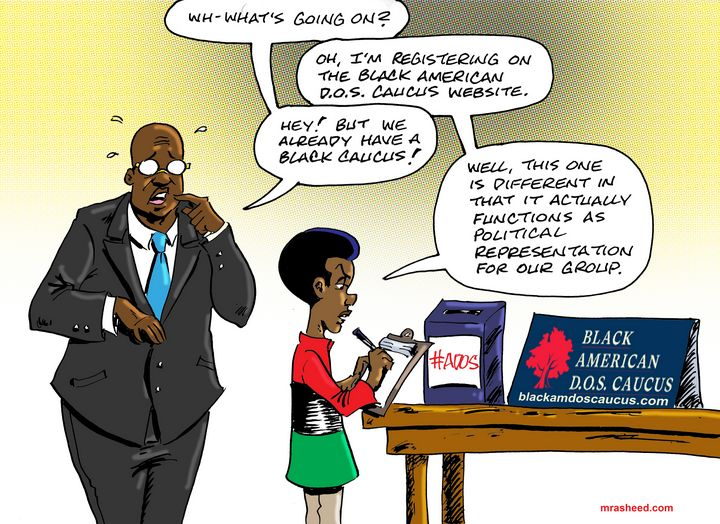 A Real Black Caucus for the People - M. Rasheed Cartoons