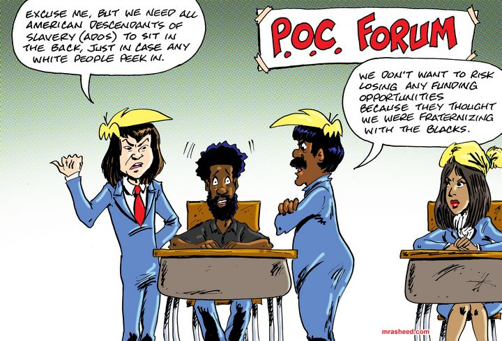 A Highly-Diverse Exclusionary Club - M. Rasheed Cartoons