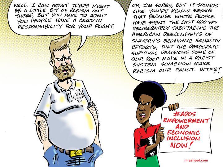 Weak Justification as a Perk - M. Rasheed Cartoons