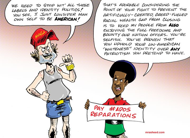 'Color Blind' Anti-Black Racism - M. Rasheed Cartoons