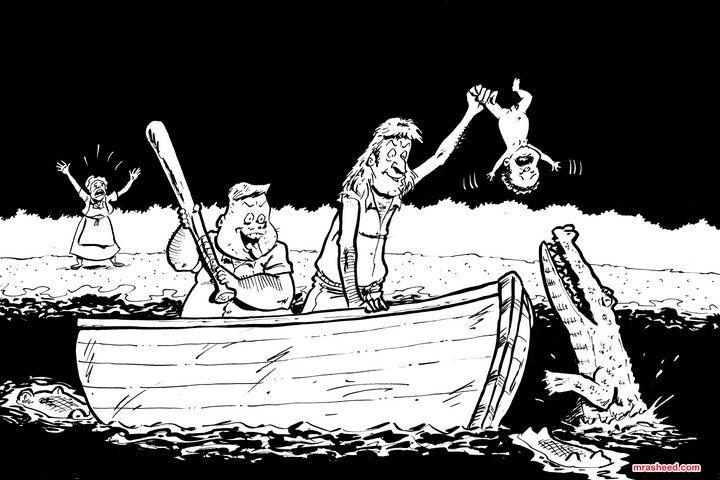 """Bait"" - Inktober 2019 (3/31) - M. Rasheed Cartoons"