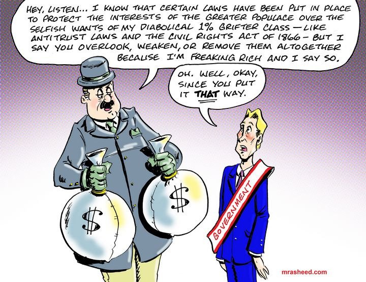 The War Against Capitalism - M. Rasheed Cartoons
