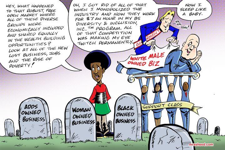 The Racist War Against Capitalism - M. Rasheed Cartoons