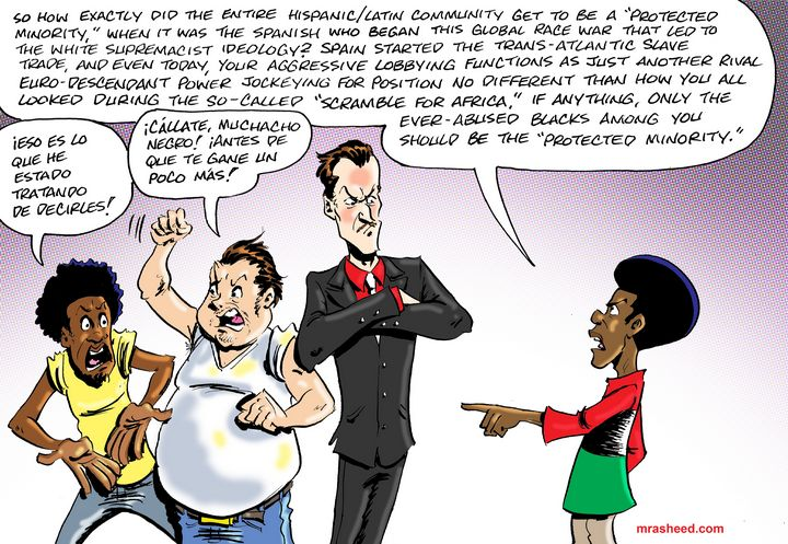 The Anti-Black Black-Brown Alliance - M. Rasheed Cartoons