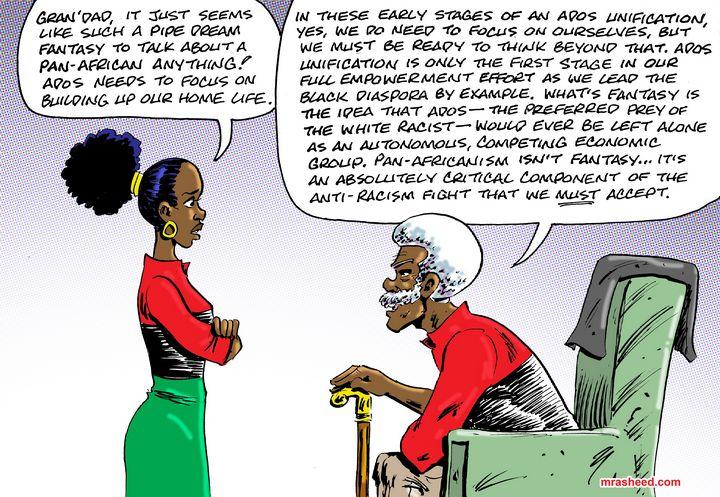 Now Pre-Registering Pan-Africanism - M. Rasheed Cartoons