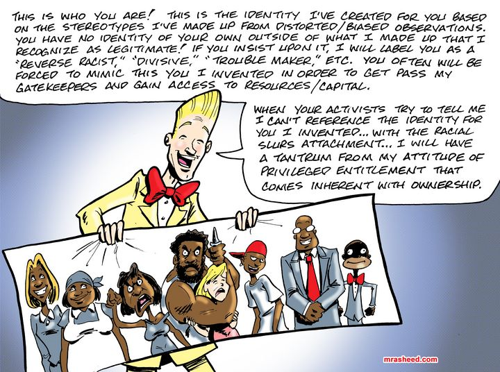 The Whiteness Narrative (Side B) - M. Rasheed Cartoons