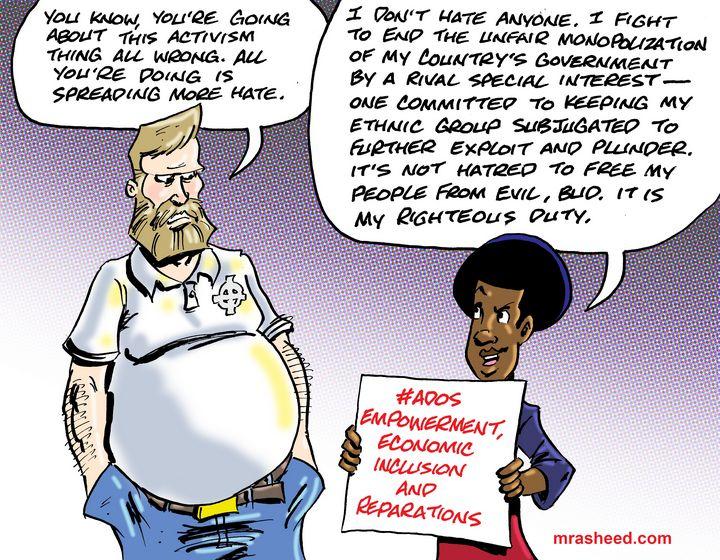 Hate Projection by Gaslight - M. Rasheed Cartoons