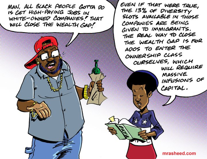 All Roads Lead to ADOS Reparations - M. Rasheed Cartoons
