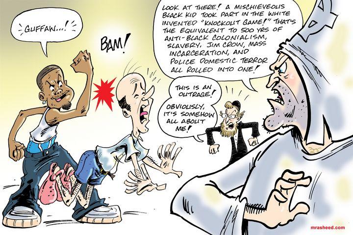 False Equivalency w/Anecdotal - M. Rasheed Cartoons