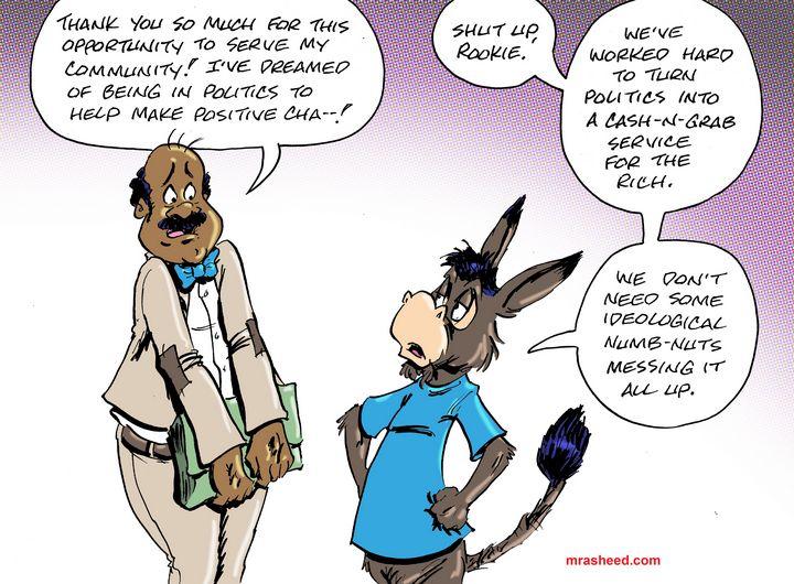 Unlearning to Serve the Machine - M. Rasheed Cartoons