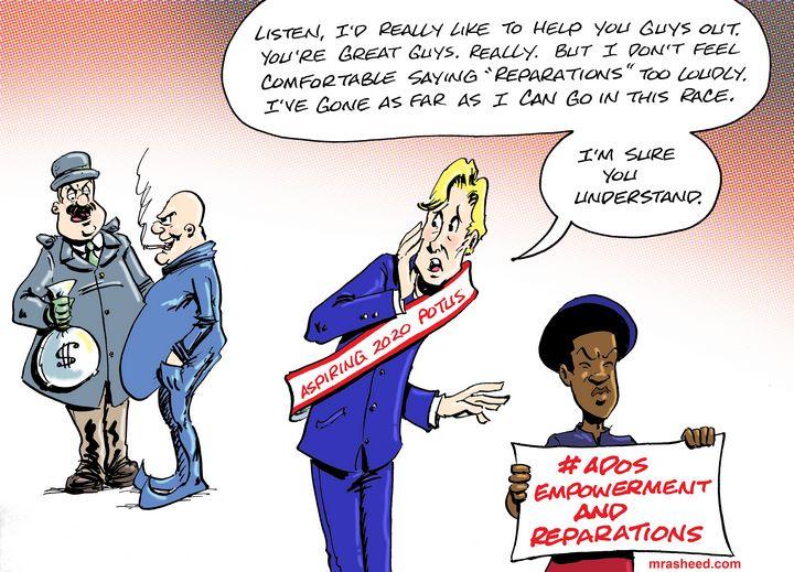 Commissioning the Unworthy Hero - M. Rasheed Cartoons
