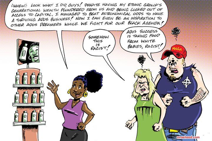 How Whites Congratulate ADOS For... - M. Rasheed Cartoons