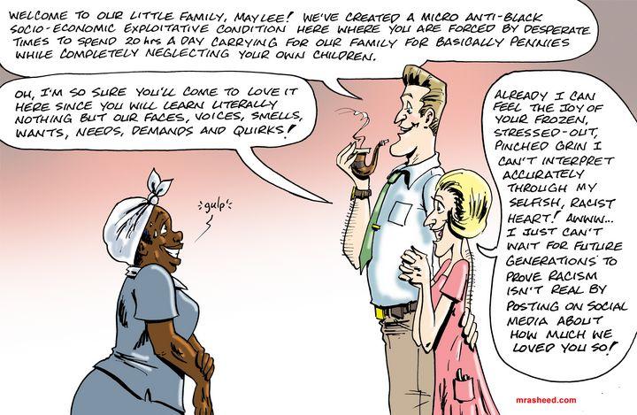 Casting Calls on the Whitopia Set - M. Rasheed Cartoons