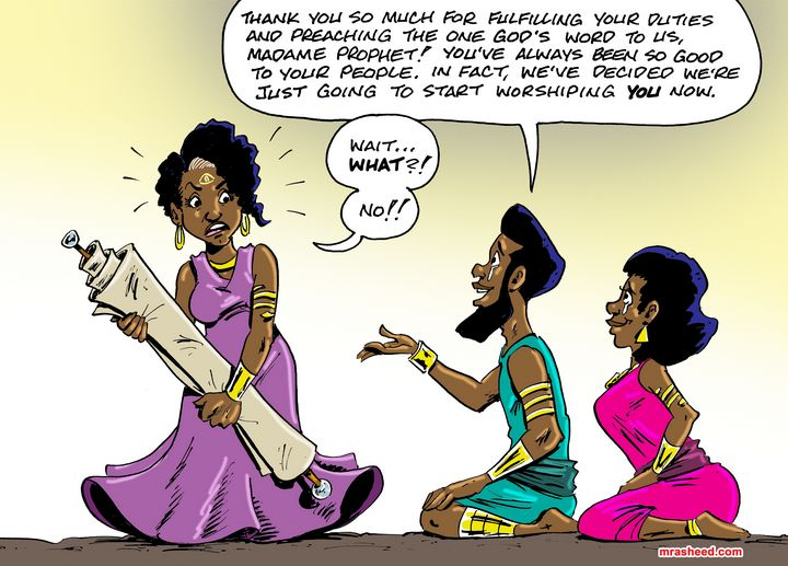 Creating the Goddess - M. Rasheed Cartoons