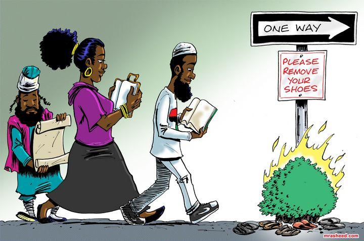 The Narrow Way of the Christ - M. Rasheed Cartoons