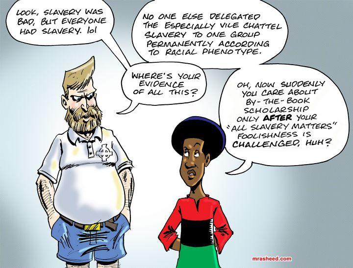 Avoiding Reparations, Spin Job #073 - M. Rasheed Cartoons
