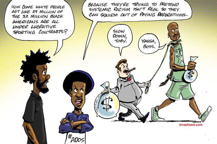 Hiding from Racial Justice - M. Rasheed Cartoons