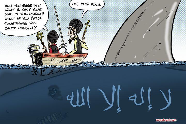 Fishing for Strictly Doctrinal Li... - M. Rasheed Cartoons