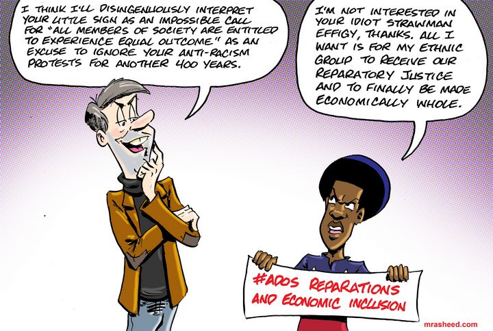 Protecting White Supremacy in the... - M. Rasheed Cartoons