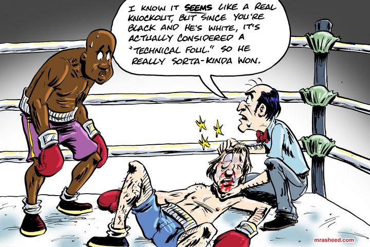 Fightin' Dirty - M. Rasheed Cartoons