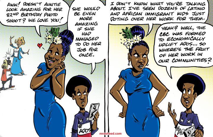 Schooling the Dormant Big Voice - M. Rasheed Cartoons