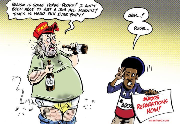 Wasting the Unfair Tilt - M. Rasheed Cartoons