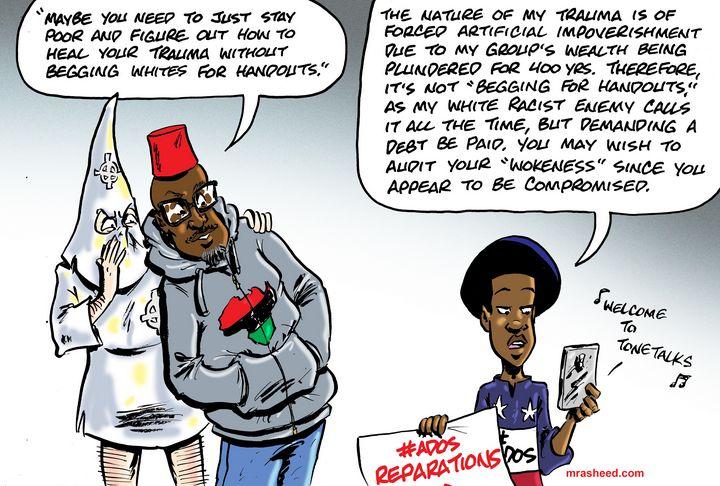 The Voice of My Enemy Through the... - M. Rasheed Cartoons