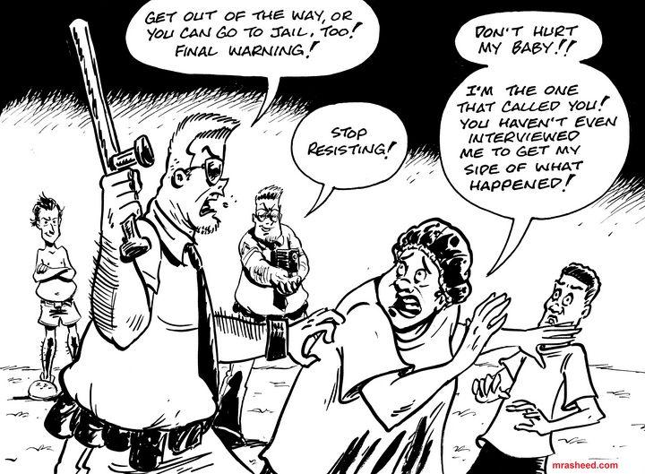 Guarded - Inktober 2018 (13\31) - M. Rasheed Cartoons