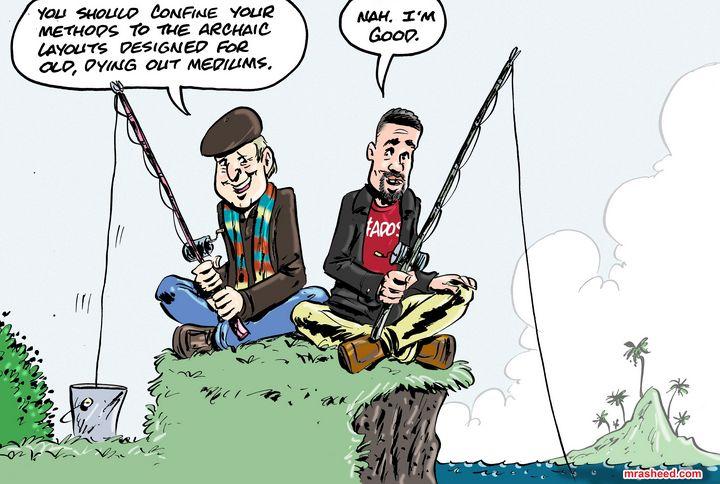 Advice From a Soggy-Bottomed Box - M. Rasheed Cartoons