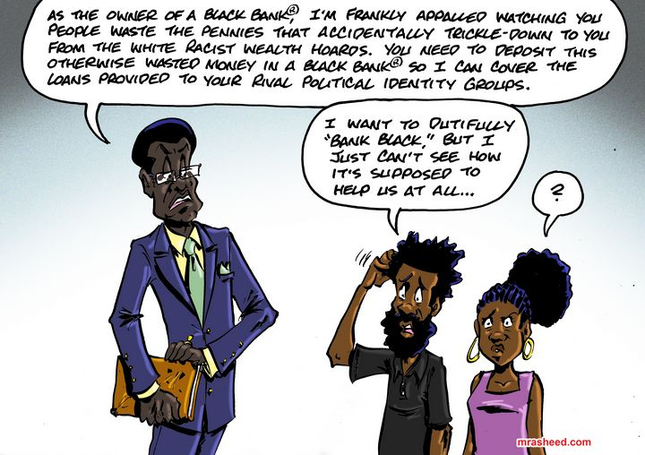 Why You Absolutely MUST 'Bank Black' - M. Rasheed Cartoons