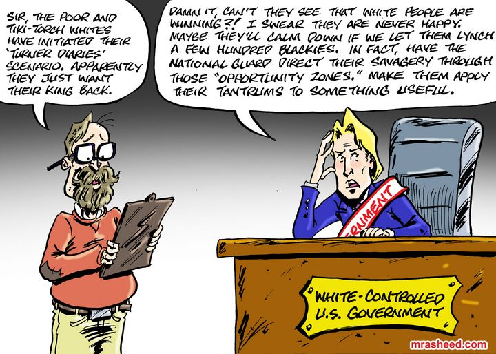 Managing the White Supremacist Em... - M. Rasheed Cartoons