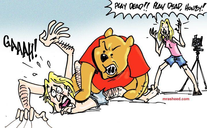 Death by Pooh - M. Rasheed Cartoons