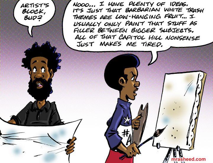 Contributing to Media Saturation... - M. Rasheed Cartoons