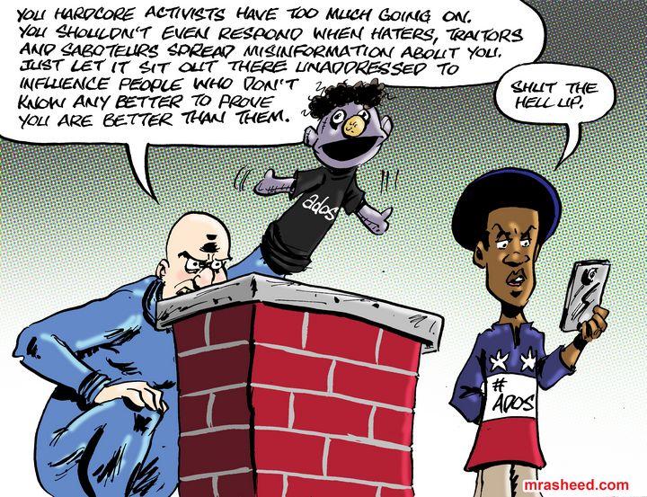 Fake Advice with Bad Intentions - M. Rasheed Cartoons