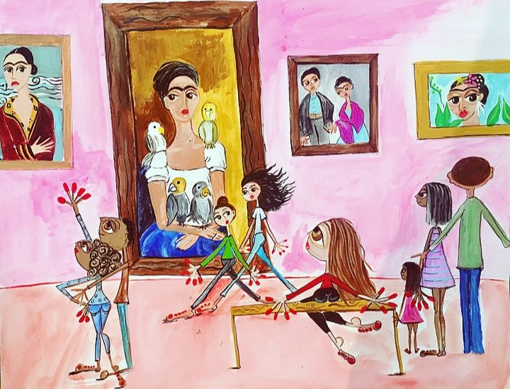 a day with frida - juliet's paintings