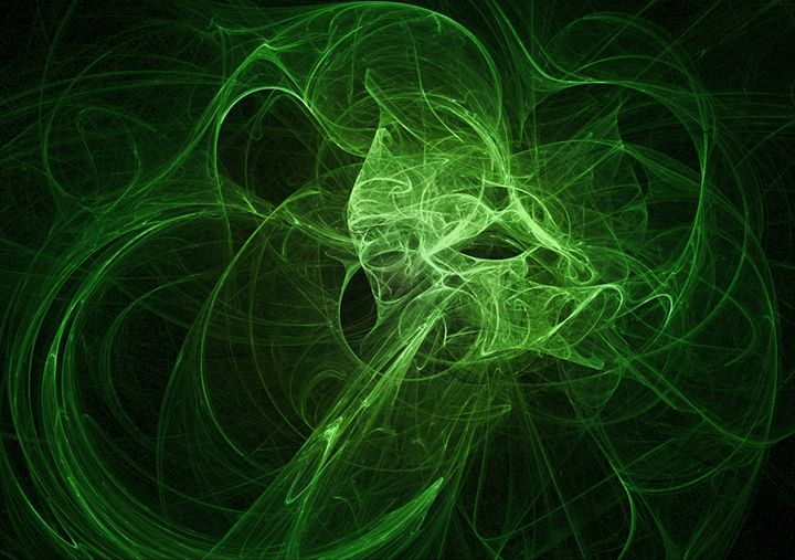 Shades of Green Plasma Fractal - Fantastic Fractals