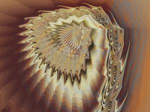 Subtle coloured fractal design