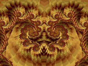 Fractal Oriental Lion Mask - Pauline Warman