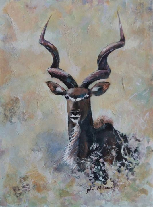The Greater Kudu - j. Millanzi Art