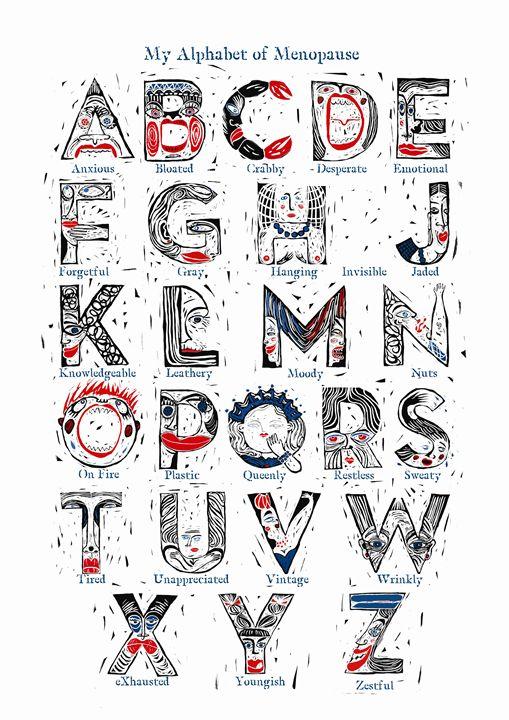 My Alphabet of Menopause - Karen Stanton Gallery